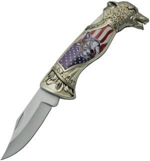 China Made American Wolf Lockback (3.25″)