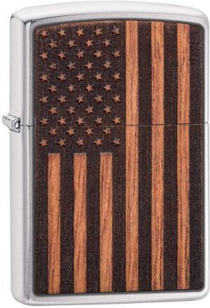 Zippo WoodChuck Flag Lighter