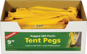 Coghlan's Tent Pegs ABS 9in 100pk