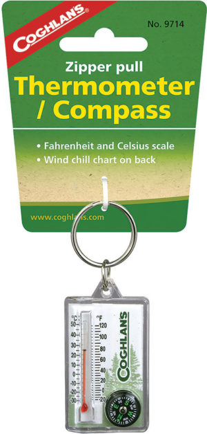 Coghlan's Zipper Pull Thermomter/Compass