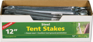 Coghlan's Steel Tent Stakes 12in 50pk