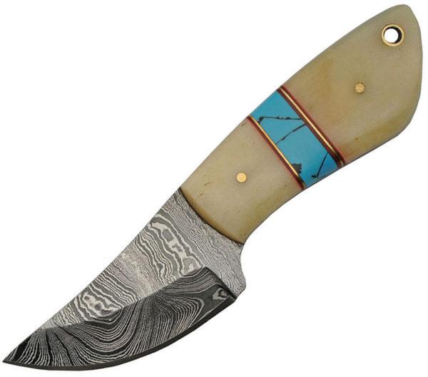 Damascus Fixed Blade Bone (2.75″)