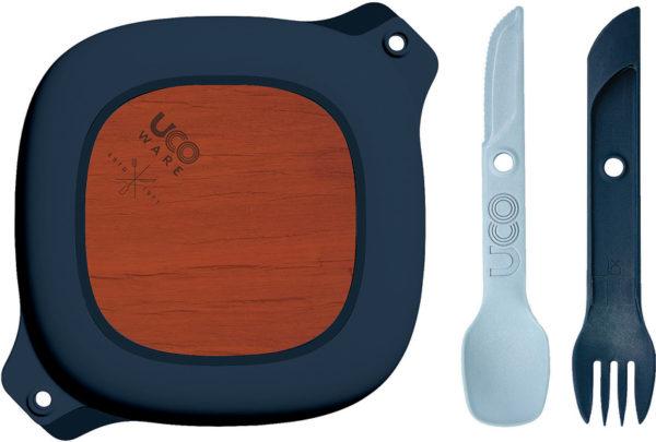 UCO Bamboo Mess Kit 5pc Blue