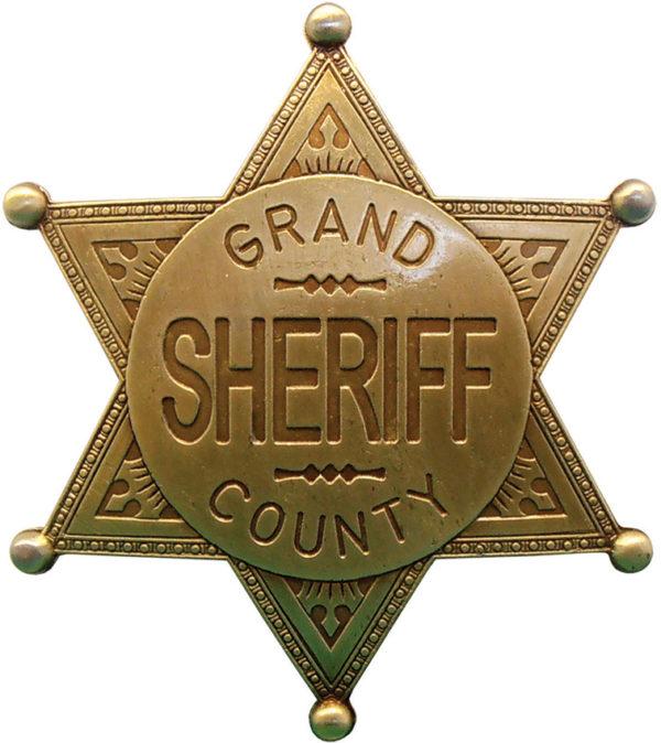 Denix Grand County Sheriff Badge