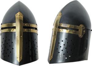 India Made Black Crusader Helmet