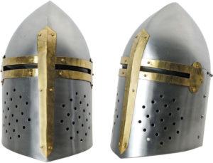 India Made Silver Crusader Helmet
