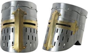 India Made Flat Top Crusader Helmet