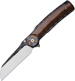 Reate Knives Jack 2.0 Flamegrain Brown