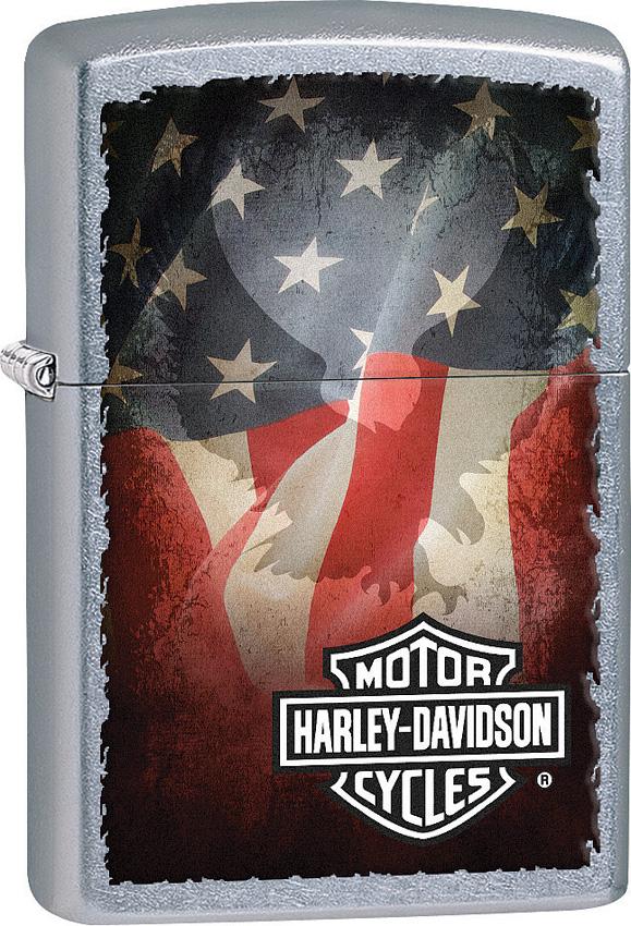 Zippo Harley Davidson Flag Design