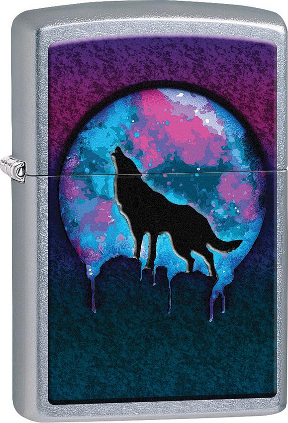 Zippo Wolf Moon Design
