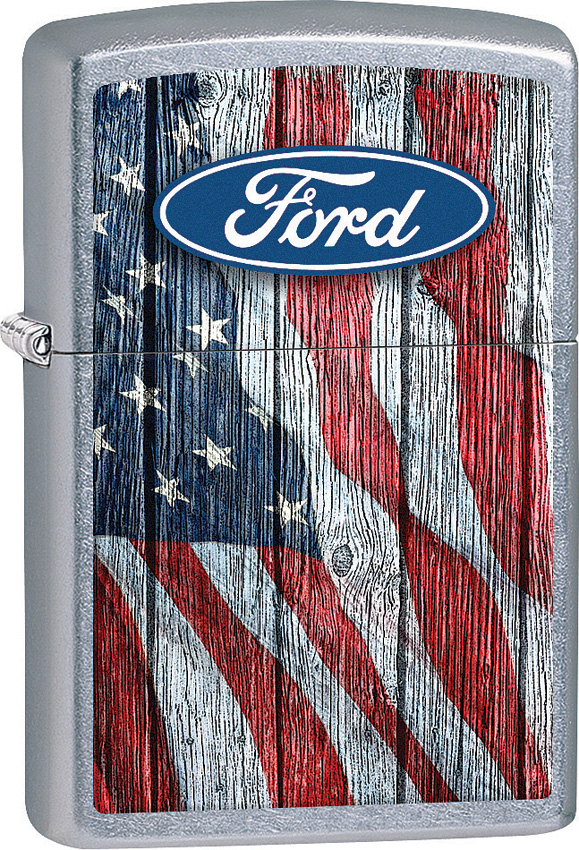 Zippo Ford Oval and Flag Lighter