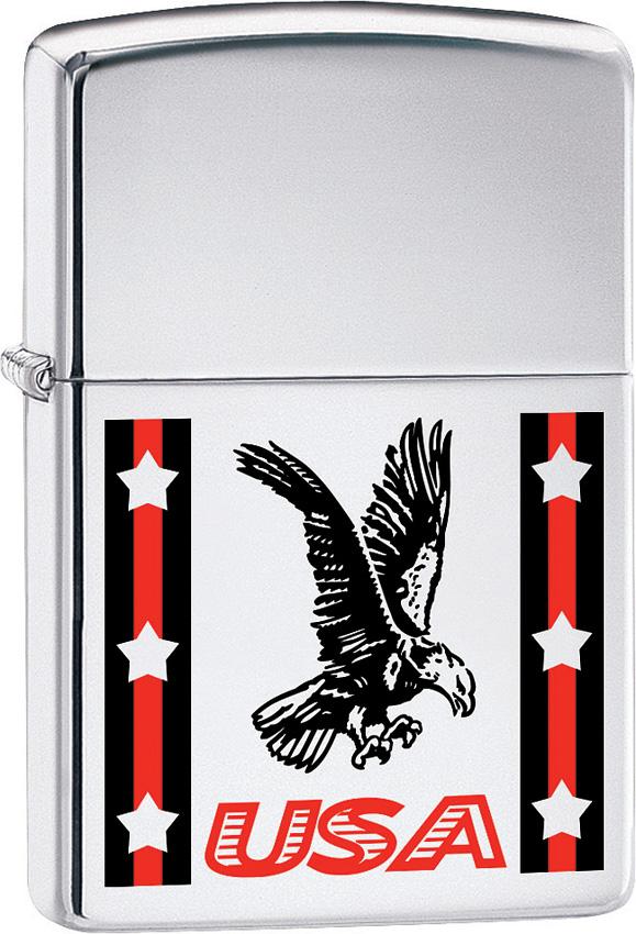 Zippo USA Ribbon/Eagle Lighter