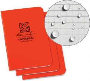 Rite in the Rain Stapled Mini Notebook 3 Pack