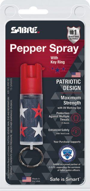 Sabre Key Ring Pepper Spray Patriot