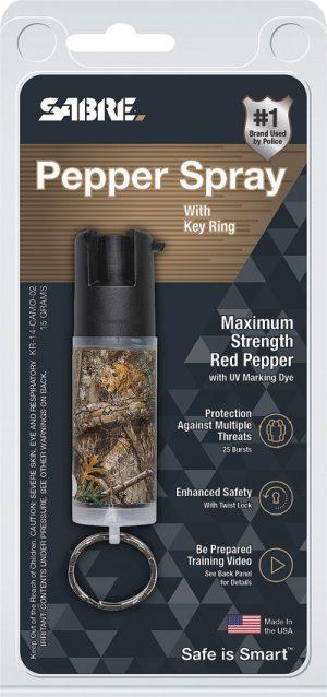 Sabre Key Ring Pepper Spray Camo
