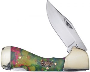 Frost Cutlery Choctaw Lockback Glitter Resin (2.75″)