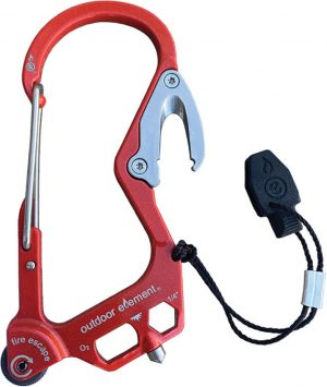 Outdoor Element Fire Escape Carabiner Red