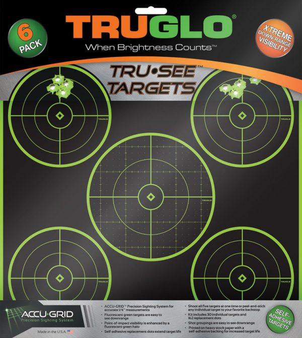 TRUGLO Tru-See 5 Bullseye Target 6pk