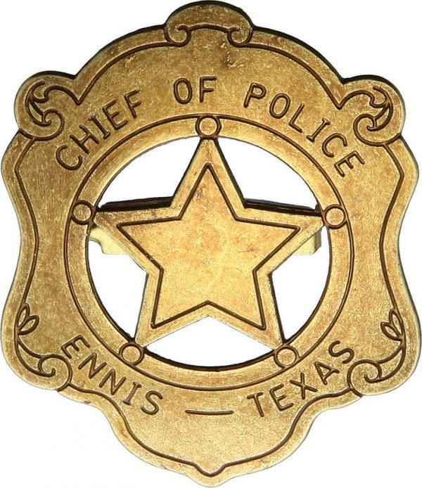 Denix Chief Of Police Badge