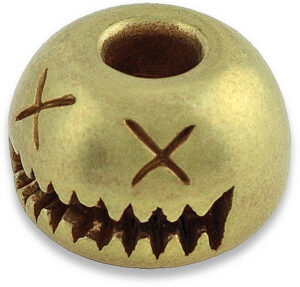 AuCon Smiley Bead Brass
