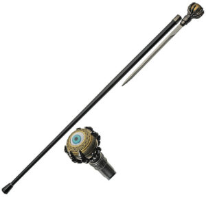 China Made Eyeball Sword Cane (12″)