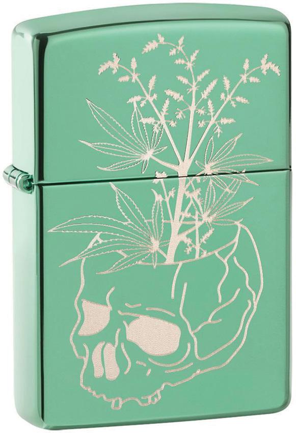 Zippo Botanical Skull Lighter