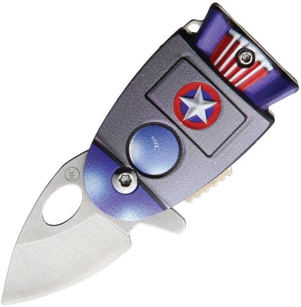 Novelty Cutlery Cosmic America Linerlock A/O (1″)