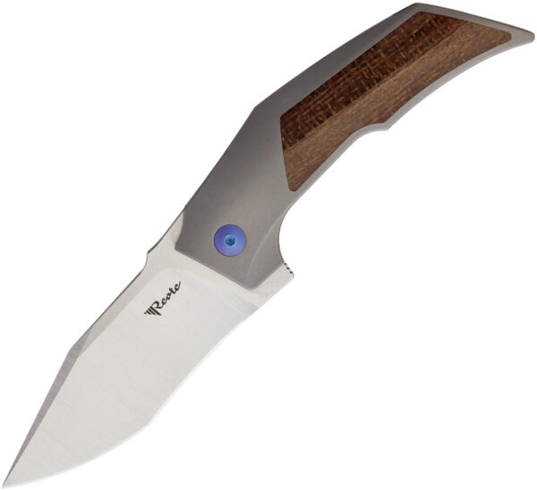 Reate Knives T3000 Framelock Micarta Blue (3″)