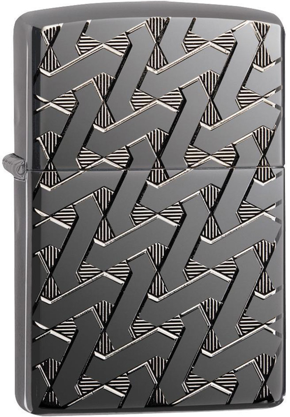 Zippo Armor Geometric Weave Lighter