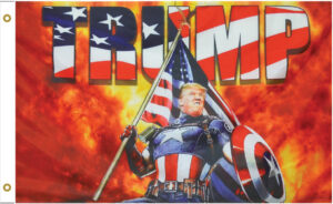 Donald Trump Re-Election Trump Captain America Flag