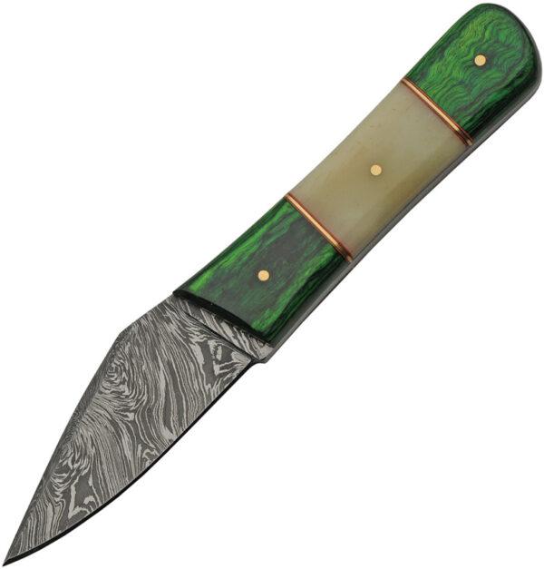 Damascus Green Bone Skinner (3.25″)