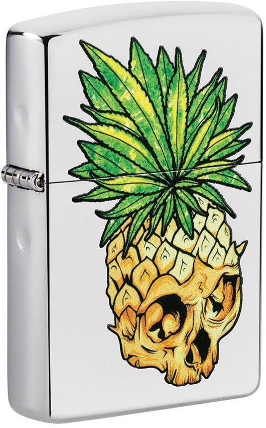 Zippo Leaf Skull Pineapple Lighter