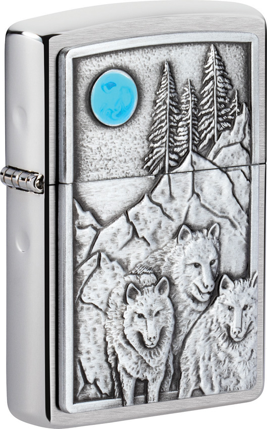 Zippo Wolf Pack and Moon Lighter