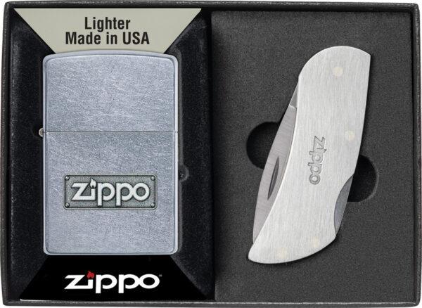 Zippo Lighter and Knife Set