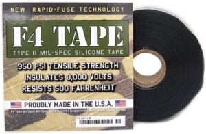 Rescue Tape F4 Mil-Spec Silicone Tape Blk