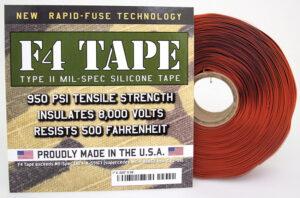 Rescue Tape F4 Mil-Spec Silicone Tape Red