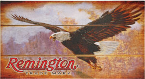 Remington Bald Eagle Wood Sign