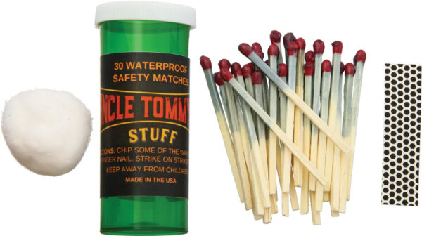 Uncle Tommy's Stuff 30 Waterproof Safety Matches