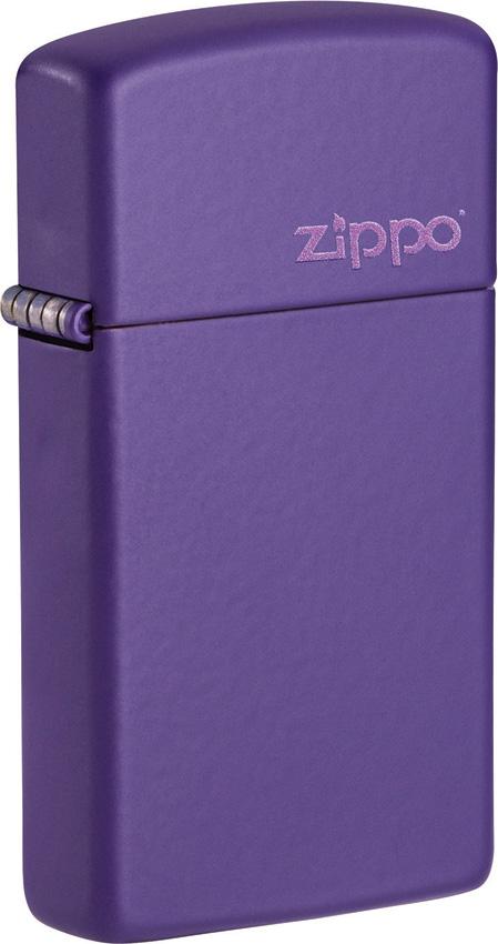 Zippo Slim Purple Logo Lighter