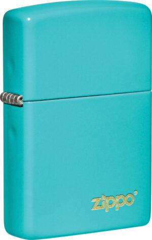 Zippo Classic Flat Turquoise Logo