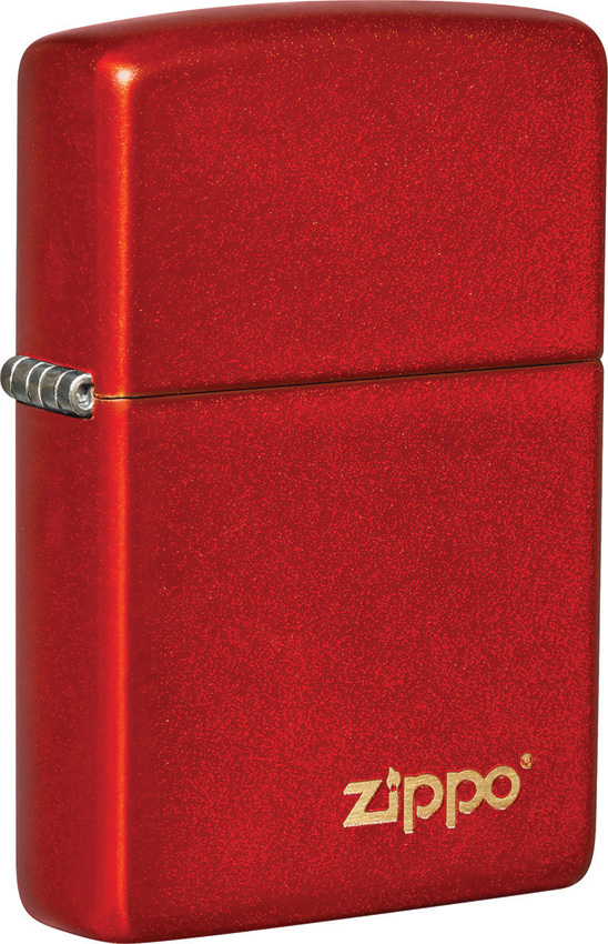 Zippo Classic Metallic Red Logo